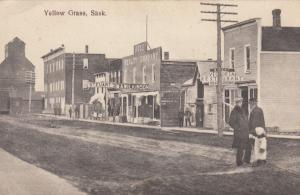 YELLOW GRASS , Sask. , Canada , 1900-10s ; Stores on Main Street