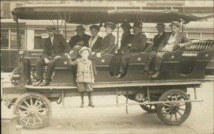 Buffalo NY Silver Star Sightseeing Bus c1910 Real Photo Postcard