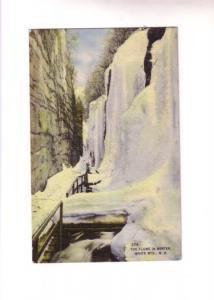 Frozen Flume, Winter White Mts New Hampshire Bisbee Press