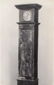 Antique Grandfather Clock Cymrieg  Bangor Museum Rare Real Photo Postcard