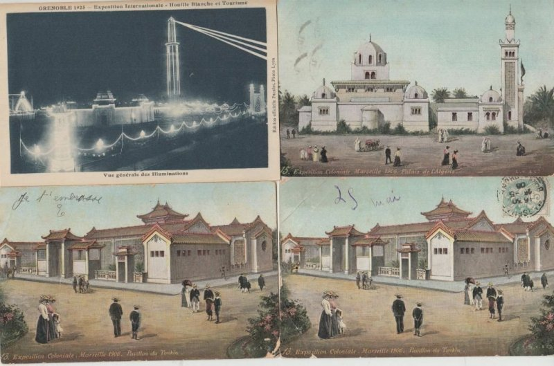 EXPOSITION  Coloniale Marseille 1922 and 1906  54 Vintage Postcards