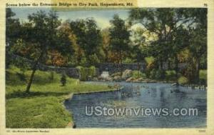 Entrance Bridge, City Park Hagerstown MD 1944