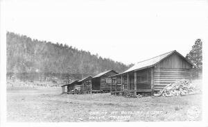 Butler Lodge Cabins Greer Arizona 1930s RPPC Photo Postcard 3381