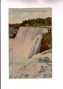 Bridal Veil American Falls, Niagara Falls, New York, Flag Cancel, Greys Mills...