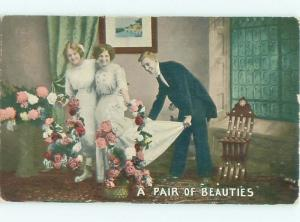 Divided-Back PRETTY WOMAN Risque Interest Postcard AA7812