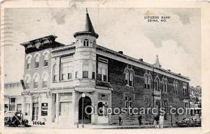 Citizens Bank Edina, MO, USA Postcard Post Card Edina, MO, USA Postcard Post ...