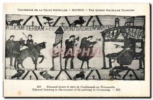 Old Postcard Mathilde Bayeux Tapestry of Queen Edward listening the tale of &...