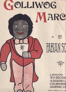 Golliwog March Fabian Scott Antique Olde Sheet Music