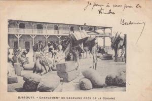 Djibouti , PU-1901 ; Chargement de Caravane Pres de la Douane