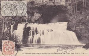 Environs de Salins-Les-Bains (Jura)-NANS-sous-Ste-ANNE-La Source du Lizon , F...