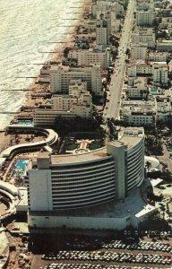 Postcard Fountainbleau Hotel Miami Beach Florida
