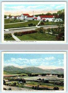 2 Postcards BEDFORD, Virginia VA ~ National ELKS HOME B.P.O.E. Peaks of Otter