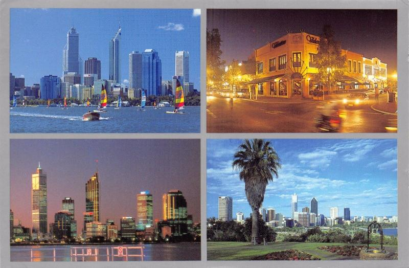 Postcard PERTH Western Australia Multiview