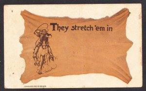 TX - Waco - They Stretch 'em in - D Hillson card - 1907