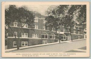 Duluth MN~Hotel Arrowhead~1st Ave W & Third Street~Cafe~c1950 Sepia Artvue