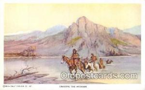 Artist Charles Russell, Postcard Post Card Reproduction Artist Charles Russel...