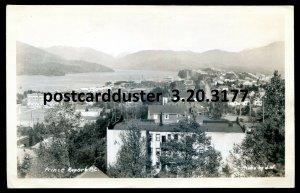 3177 - PRINCE RUPERT BC 1940s Birds Eye View. Real Photo Postcard by J.W.