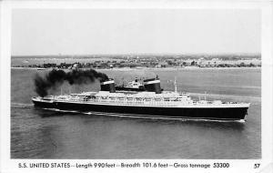 S.S. United States, United States  Lines RPPC