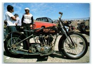 Postcard Harley Davidson 1929 Twin Cam JD by Don Morley D52