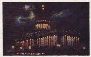 State Capitol At Night Salt Lake City Utah