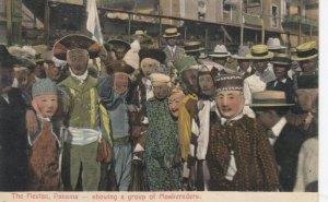 The Fiestas , Panama Canal, 1907 ; Group of Maskeraders ; CRISTOBOL