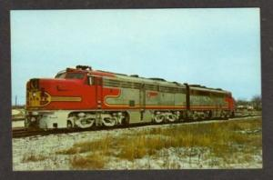 NY Santa Fe Railroad Train COLONIE NEW YORK Postcard RR
