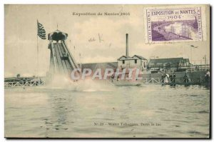 Nantes Old Postcard Exhibition of Nantes in 1904 In Lake Water slide
