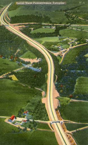 PA - Pennsylvania Turnpike. Aerial View