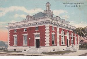 GREENWOOD, South Carolina, PU-1912 ; Post Office