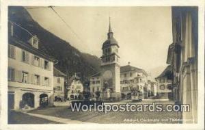 Altdorf Swizerland, Schweiz, Svizzera, Suisse Dorfplatz mit Telldenkmal Altdo...