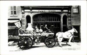 Wilmington DE Fame Fire Co Engine REPRO Real Photo Postcard