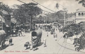 Main Street, Pettah, Colombo, Ceylon, Early Postcard, unused