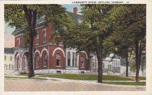 Vermont Rutland Community House Curteich