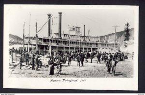 Dawson (Yukon) Dawson Waterfront 1900 ship dock 1950s? RPPC real photo postcard