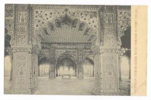 Interior Dewan Khas with Throne in Fort Delhi, India, 00-10s