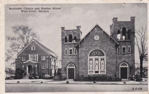 WEST POINT, Georgia, PU-1945; Methodist Church and Sunday School