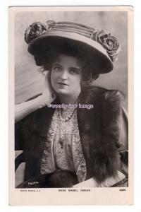 b5473 - Stage Actress - Mabel Green in Large Hat & Furs , No.4456 - postcard
