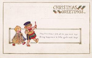 Christmas Greetings, Children playing flute and snare drum, 00-10s