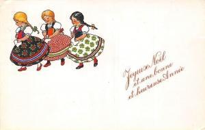Joyeux Noel et heureuse Annee! Ethnic Girls Traditional Folk Dress Clothing