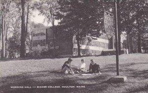 Maine Houlton Ricker College Wording Hall Artvue