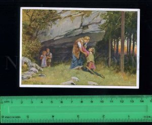 222453 Grimm Tale Rapunzel by Paul HEY artist old Tobacco Card