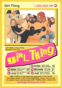 Girl thing advertising postcard
