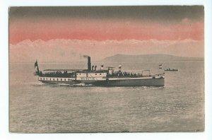 Postcard Steamer Helvetie Bateau a Vapeur Sur le Lac De Neuchatel VPC1.