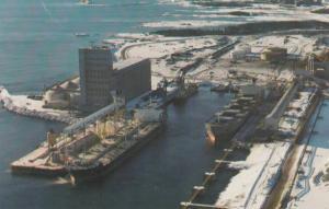 PORT CARTIER, Quebec, Canada, PU-1984;  Grain Elevator, Quebec Cartier Mining...