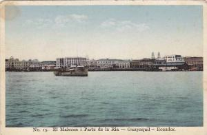 Steamer, El Malecon i Parte De La Ria, Guayaquil, Ecuador, 1900-1910s