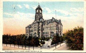 Pennsylvania Pottsville Schuylkill County Court House 1916 Curteich