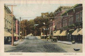 Postcard Stowe Street Waterbury Vermont