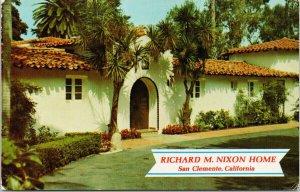 Richard Nixon Home San Clemente CA c1973 Postcard F34