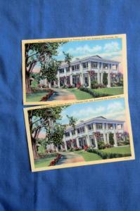 Historic Old Gamble Mansion Postcard Vtg Florida, Tamiami Trail, Bradenton