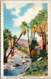 Palm Canyon near Palm Springs California posted 1938